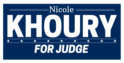 Nicole Khoury for Judge Logo